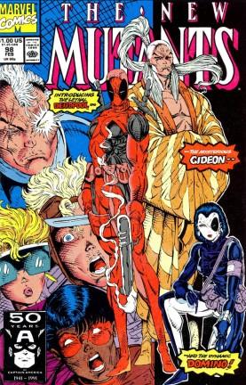Capa dos Novos Mutantes #98 a primeira aparição do Deadpool